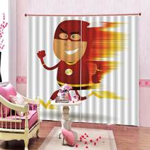 Superhero Shower Curtain for Children's room Fun Cartoon Character Art Fabric Blackout Curtains Home drapes(China)