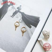 Pofunuo корейские студенческие ювелирные изделия 925 пробы серебряный