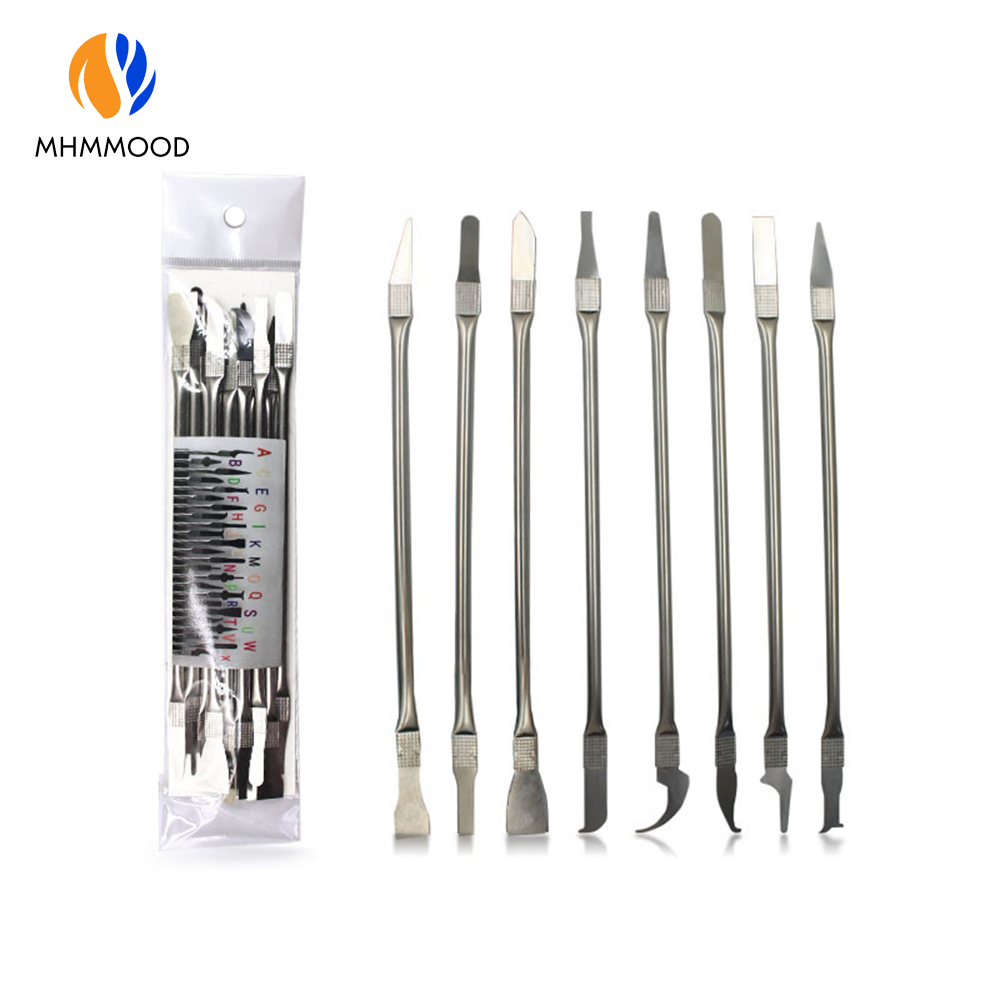 8-in-1 Mobile Phone Tablet Notebook LCD Chip CPU Separation Glue Removal Knife Shell Removal Tool Kits Repair Glue Removal Knife