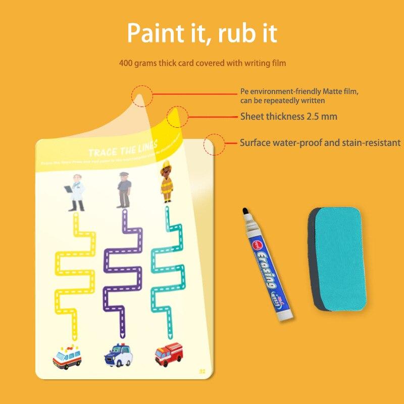Tablet de desenho infantil montessori, brinquedos diy, jogo de matemática em cores, conjunto de livro de desenho, brinquedos educativos para crianças 5