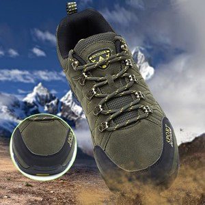 Image 4 - プラスサイズ耐久性のあるアウトドアハイキングシューズメンズレディース牛スエードトレッキング登山靴防水ノンスリップ戦術的なハイキングスニーカー