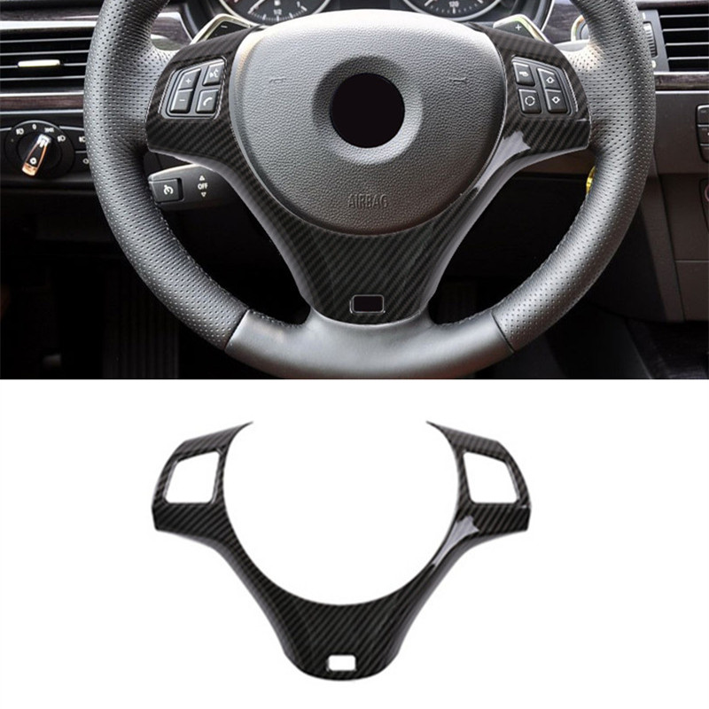 Car Styling Steering Wheel Buttons Frame Deoration Cover Trim For BMW E90 3 Series 2005-2012 ABS Interior Accessories