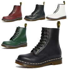 Couple Ankle Boots Genuine Leather Martin Boots Women Casual DrMotorcycle