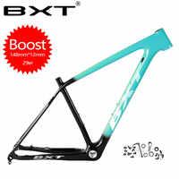 Bxt marca fortalecer carbono mtb quadro 29er mtb quadro de carbono 29 mountain bike quadro 142*12 ou 148*12mm quadros de bicicleta