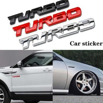 1pcs Universal Car Body Sticker Automotive Tail Side Sports Body Styling Sticker Letter Turbo Decorative Sticker Car Trim A K1A3 image