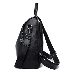 Image 3 - Mode Anti Theft Frauen Rucksack Hohe Qualität Langlebig Weichem Leder Reise Rucksack Casual Wasserdichte Weibliche Rucksack Mochilas