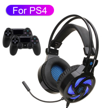 Computer Gaming Headset For PS4 Gamer Headphone With Microphone LED Earphone PC Cascos Music Helmet For Mobile Phone Laptop computer pc gamer headphone with mic led light noise cancel loud sound phone gaming headset for ps4 earphone music stereo helmet