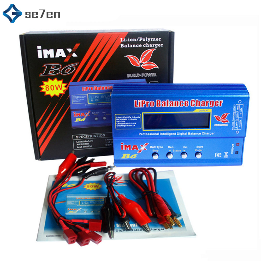 IMAX B6 80W 6A Battery Charger Lipo NiMh Li-ion Ni-Cd Digital RC IMAX B6 Lipro Balance Charger Discharger