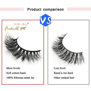 Friholl.m  wholesale 3d mink lashes 8-25mm siberian real mink strip eyelashes mink eyelashes  packaging box 5