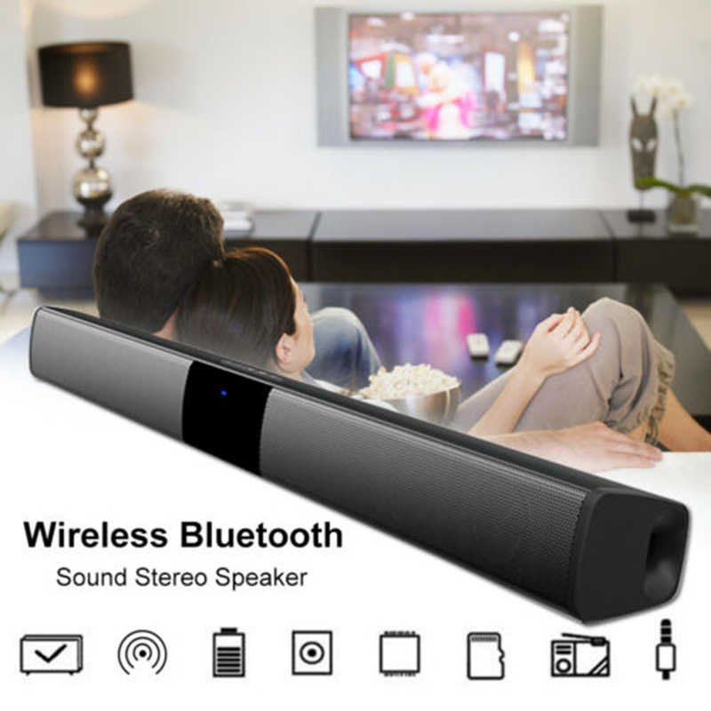 20W Nirkabel Bluetooth Speaker Bass TV Soundbar dengan Subwoofer Home Theater USB AUX MP3 Musik Player BOOMBOX dengan Remote kontrol