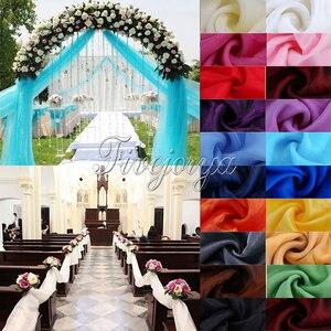 Image 3 - 5Pcs/Lot 5M*1.4M Top Table Organza Swag Sheer Organza Fabric DIY Material Wedding Party Banquet Table Top Stair Decor