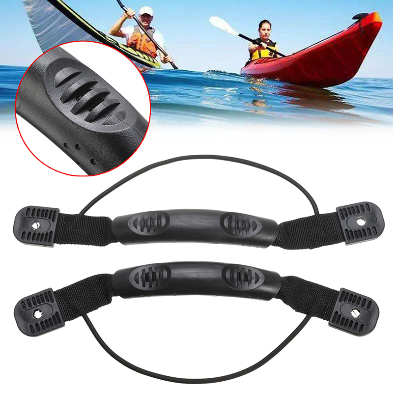 Black Kayak Grip Canoe Boat Side Mount Carry Handle w// Bungee Cord Accessories