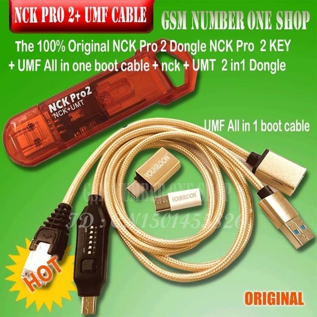 100% NCK Pro Dongle NCK Pro2, llave nck, llave NCK, DONGLE UMT 2 en 1 + cable de arranque, Original, nuevo, envío rápido