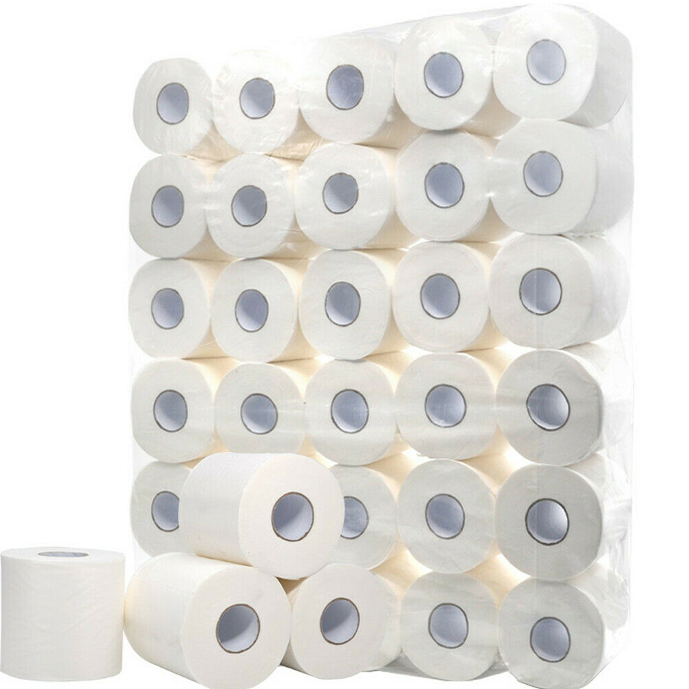 10Rolls 3Ply Toilet Paper Toilet Roll Tissue Roll Pack Towels Tissue Dinner Table Napkins Paper Towels  Household Toilet Paper