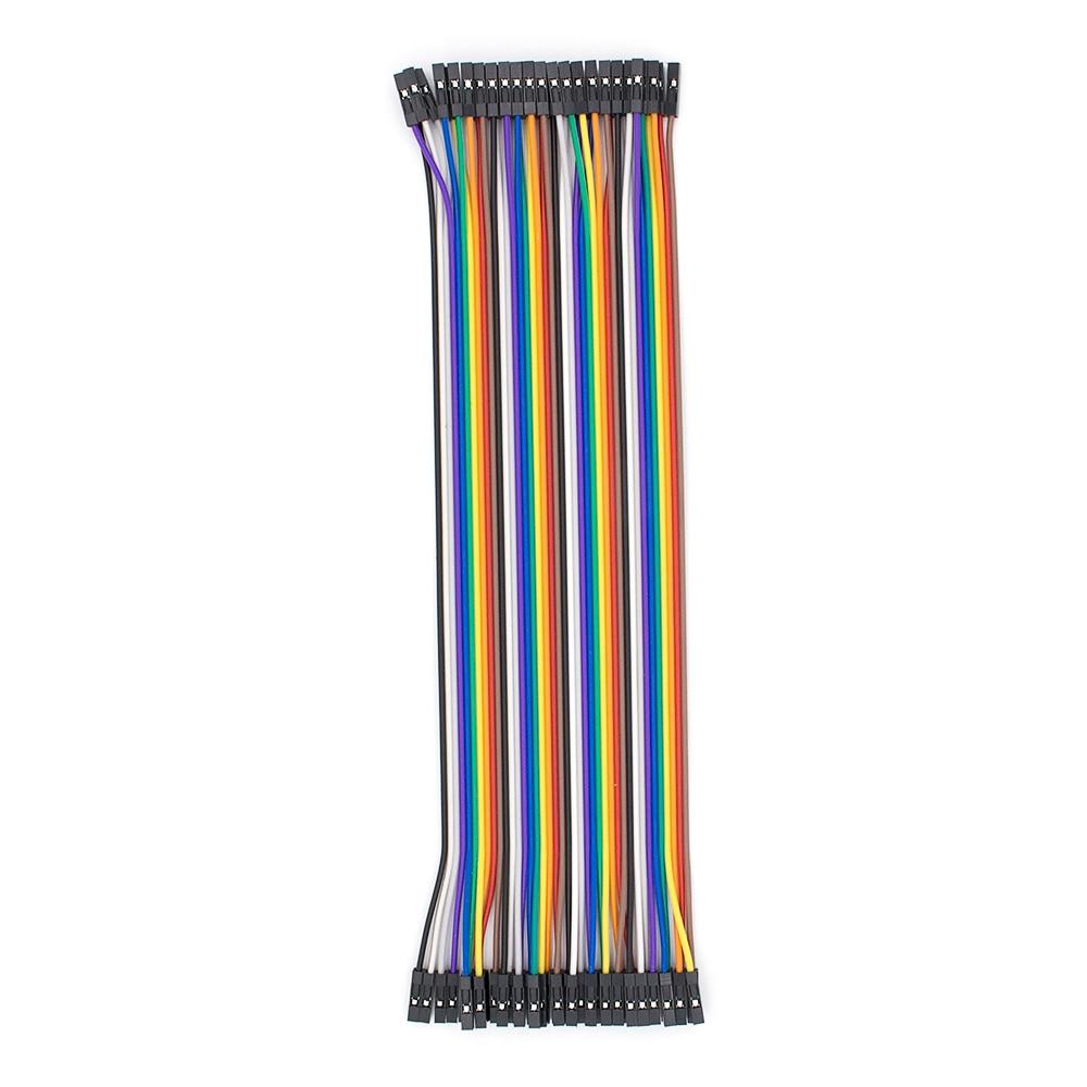 40 pièces dupont câble cavalier fil dupont ligne femelle à femelle dupont ligne 20cm 1 P 1 P p p c c  - AliExpress