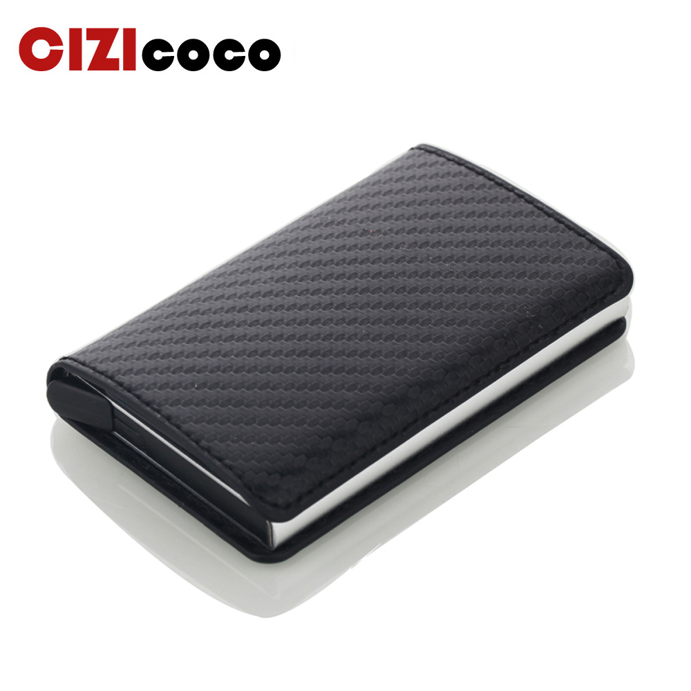 Business ID Card Case Men Credit Card Holders Fashion Automatic RFID Card Holder Aluminium Bank Card Wallets