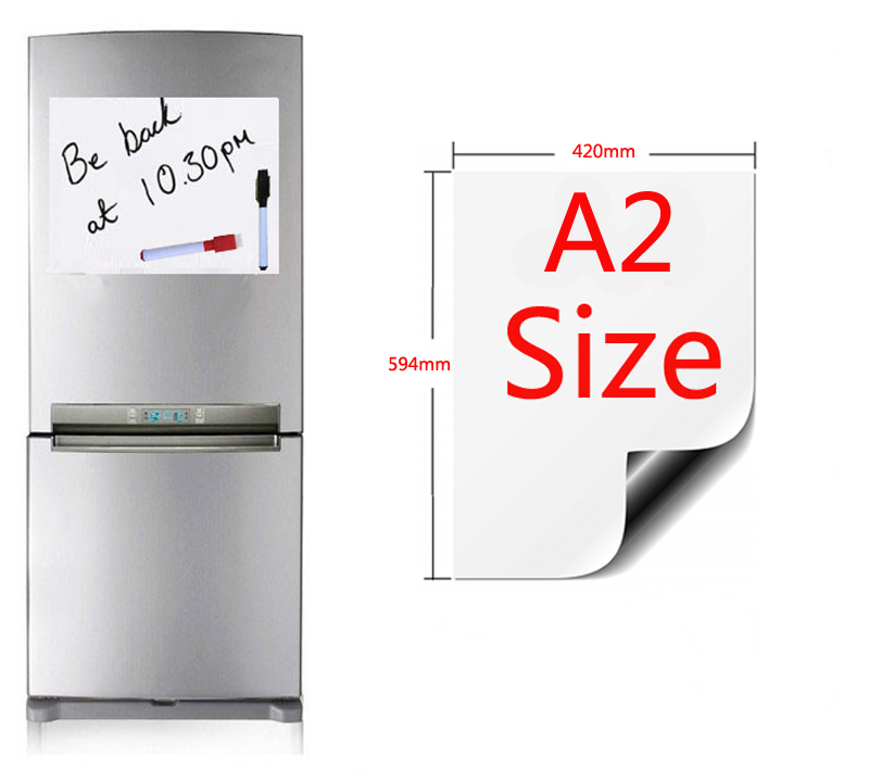 A2 Size Magnetic Whiteboard Fridge Magnets Presentation Boards Home Kitchen Message Boards Writing Sticker 420x594mm
