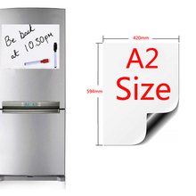 A2 Size Magnetic Whiteboard Fridge Magnets Presentation Boar