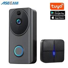 1080P sans fil sonnette Tuya APP contrôle cloche porte téléphone appel intelligent maison sécurité caméra Audio Wifi vidéo interphone