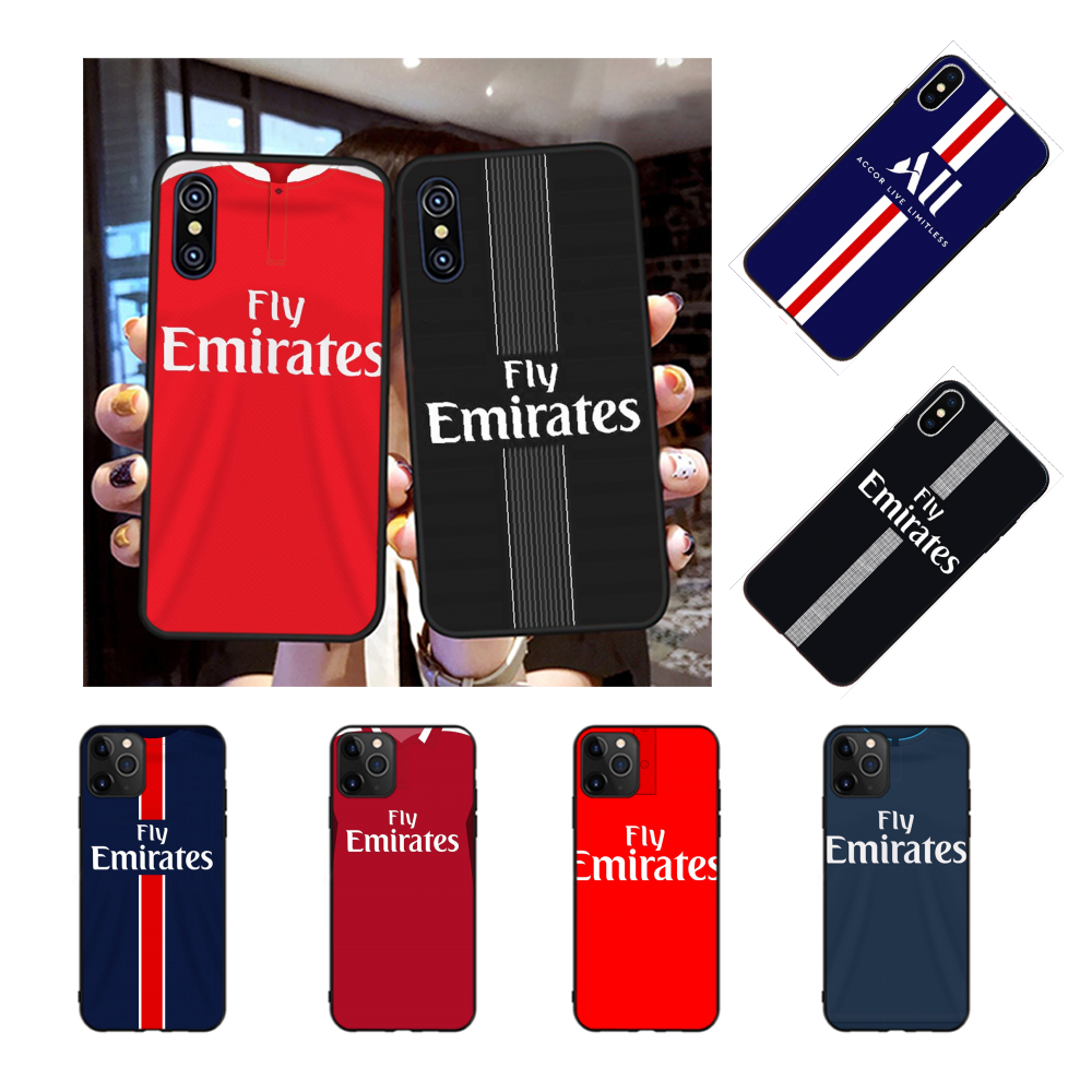 NBDRUICAI PSG Jersey Style DIY Printing Phone Case cover Shell for iPhone 11 pro XS MAX 8 7 6 6S Plus X 5S SE XR case