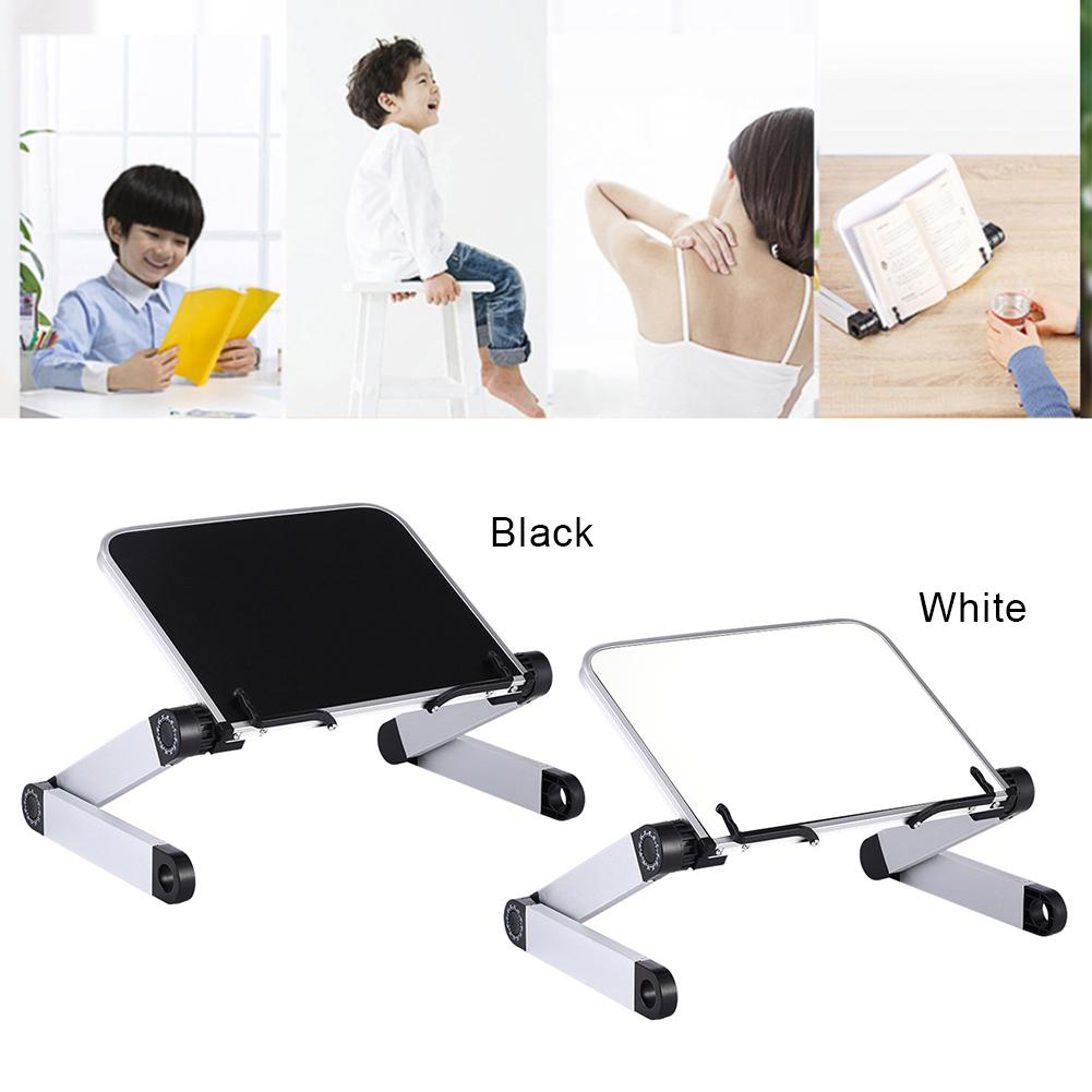 Book Stand Adjustable Reading Book Holder Free Hands Page Paper Clips For Book Laptops