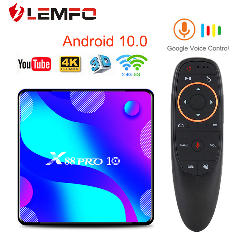 X88 PRO 10 TV Box Android 10 0 4GB 64GB 128GB Rockchip RK3318 4K Media player android tv box Google Voice Youtube smart tv box