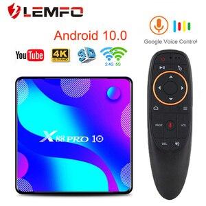 X88 PRO 10 TV Box Android 10.0 4GB 64GB 128GB Rockchip RK3318 4K Media player android tv box Google Voice Youtube smart tv box