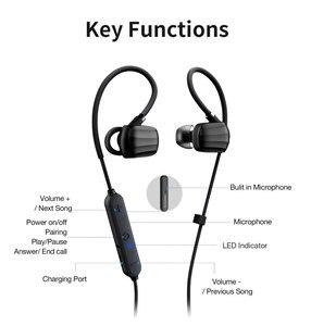 Image 5 - 2 יח\חבילה GGMM אלחוטי Bluetooth אוזניות אוזניות ספורט אוזניות IPX4 עמיד למים אוזניות עם מיקרופון אוזניות תמיכה AAC
