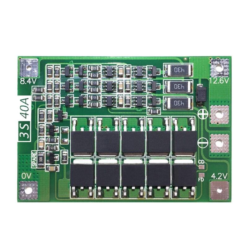3S 40A для отвертки 12V li ion 18650 Bms Pcm плата для защиты батареи Bms Pcm с балансом Liion модуль аккумуляторной батареи|Зарядные устройства|   | АлиЭкспресс