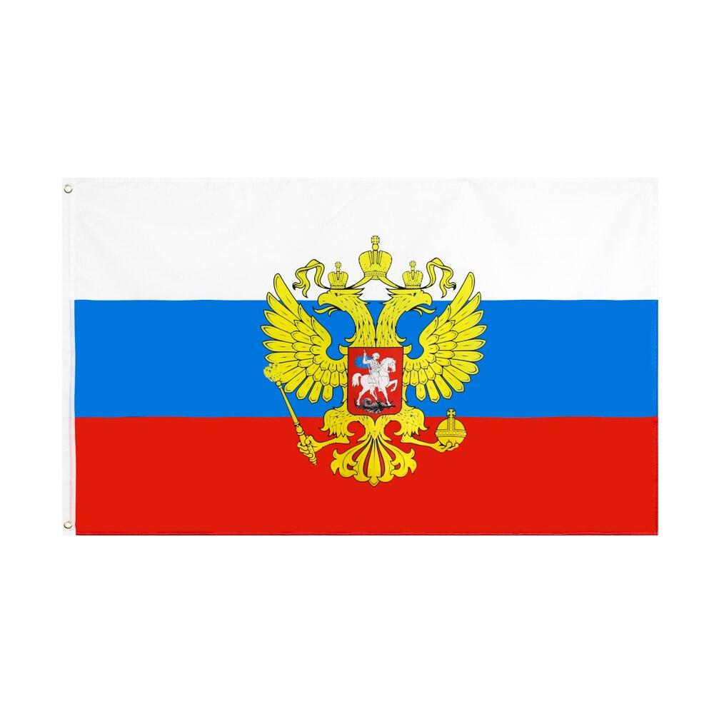 Дженнифер 90x150 см поднимающийся вперед российский флаг с национальным гербом