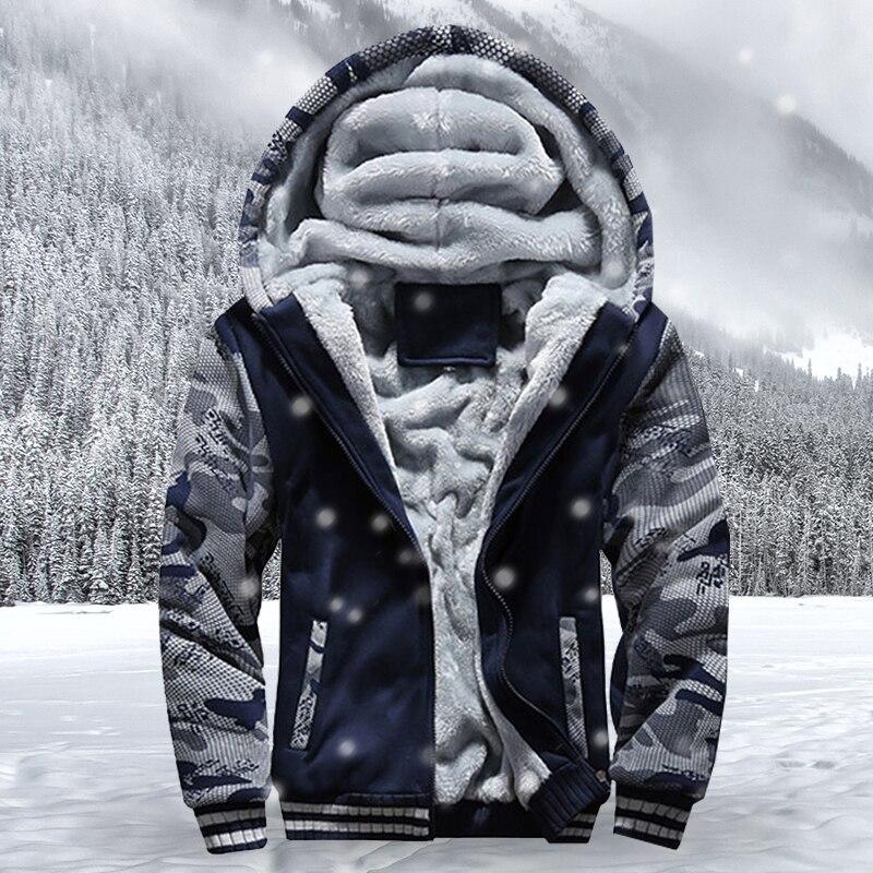 Winter Jacke Männer Camouflage Starke Hooded Zipper Winddicht Mantel Warm Solide Mode Männlichen Mantel Outdoor-sportbekleidung Homme Trainingsanzug