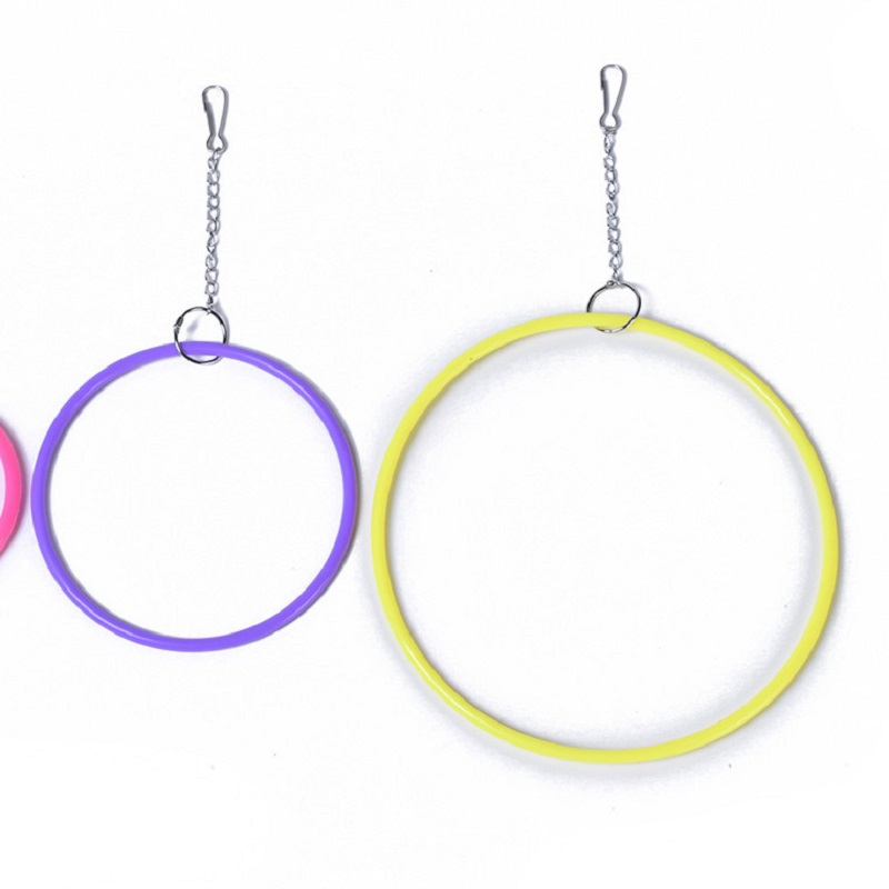 font b Pet b font Bird Toys Parrots Chew Toy Hanging Swing Rings For Birds