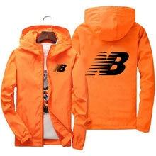 2021 Spring New Jacket Men's Street Windbreaker With Hood Zipper Thin Coat Sports Jacket Men's Casual Jacket 7XL