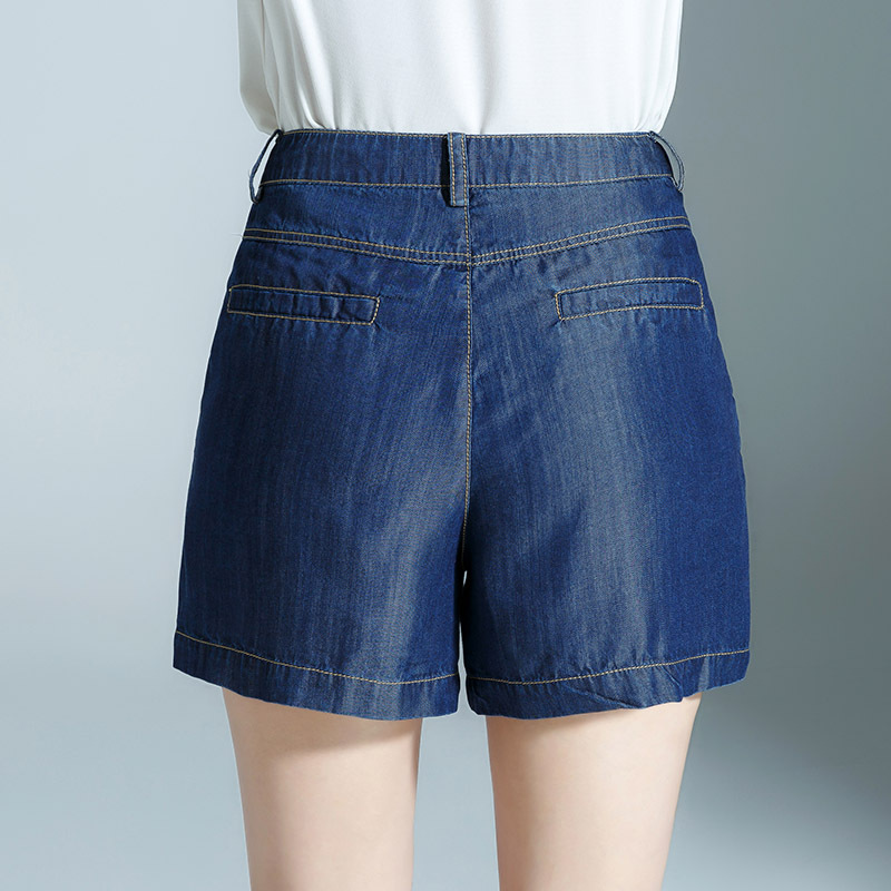 2019 Summer New Style Tencel Jeans WOMEN'S Shorts Loose Pants Shorts Casual WOMEN'S Pants 7519