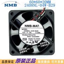 Новый преобразователь 6020 8nl-04w-b29/B20, NMB, 12 В, 0,09a, 6 см, бесшумный вентилятор охлаждения шасси