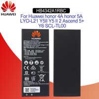 Hua Wei Original Telefon Batterie HB4342A1RBC Für Huawei Y5II Y5 II 2 Ascend 5 + Y6 Ehre 4A SCL-TL00 Ehre 5A LYO-L21 2200mAh