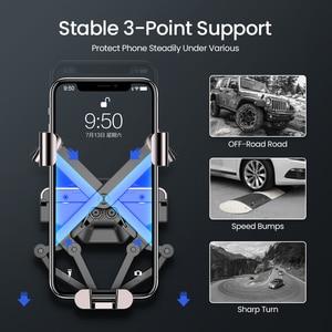 Image 5 - DIVI Schwerkraft Auto Telefon Halter für Samsung huawei xiaomi Auto Air Vent Clip Halterung Für iPhone 11 X Xs Max xiaomi auto Telefon Stehen