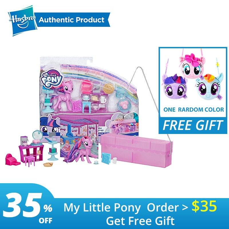 Hasbro 7.62cm mon petit poney en déplacement AST rareté crépuscule étincelle Action Figure Collection modèle poupée pour enfants cadeaux