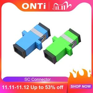 Image 1 - ONTi 200 шт. волоконно оптический соединитель Адаптер SC / UPC SM фланец одномодовый Simplex SC SC APC Муфта Бесплатная доставка Оптовая продажа