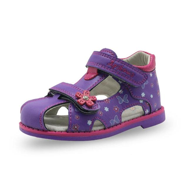 PU Leather Girls Shoes kids Summer Baby Girls Sandals Shoes Skidproof Toddlers Infant Children Kids Shoes Arch Support