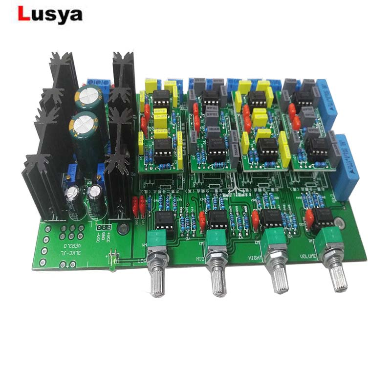 Electronic Prestage 3 Way Crossover Board Linkwitz-Riley Filter Power Supply Crossover-Point Adjustable 850HZ/4200HZ T1215