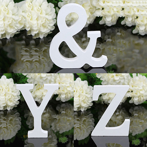 6cm New 1pc Large Wooden Letter Alphabet Wall Hanging Wedding Party Home Shop Decoration Holiday Decorations 5
