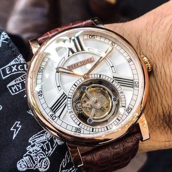 Alligator Strap Men Automatic Watch