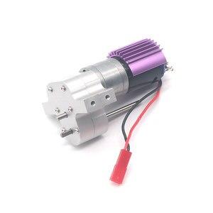 Image 2 - アップグレード金属ギアボックスとモーターためのランダムな色を wpl 1 C14/C24 jjrc Q65 rc カーパーツ
