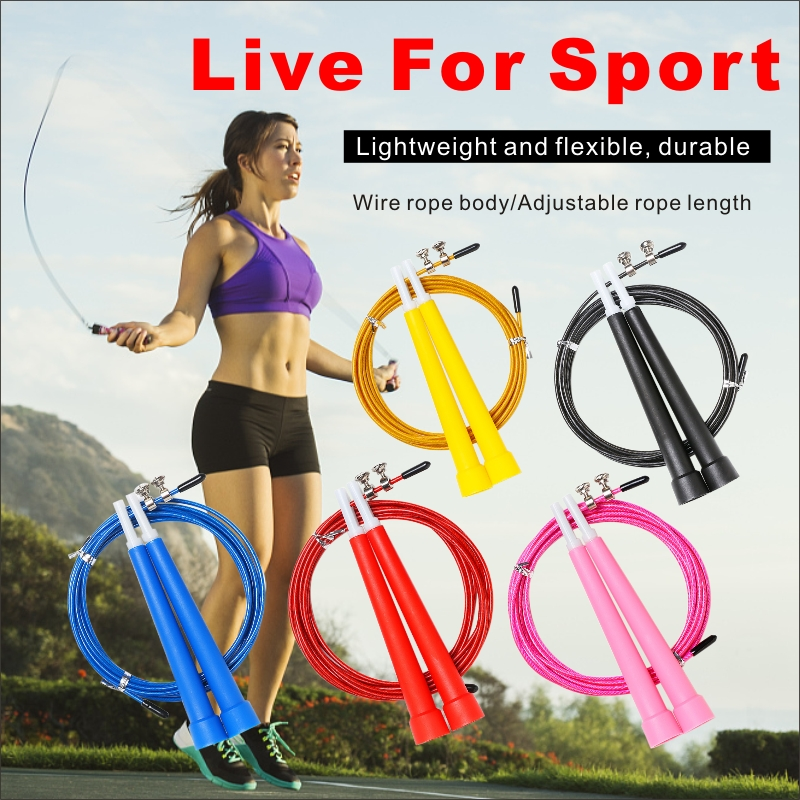 3M Jump Skipping Ropes Cable Steel Adjustable Speed Handle Jumping Rope Training Boxing Exercises Comba Crossfit Saltar Fitness