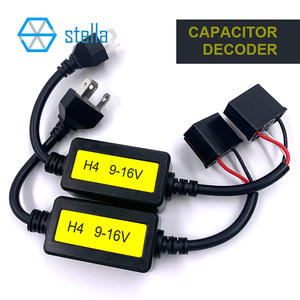 Image 1 - Stella 2 pcs H4 canbus decoder for auto lamp capacitance decoding solve light flashing/ high beam doesnt work canbus problem