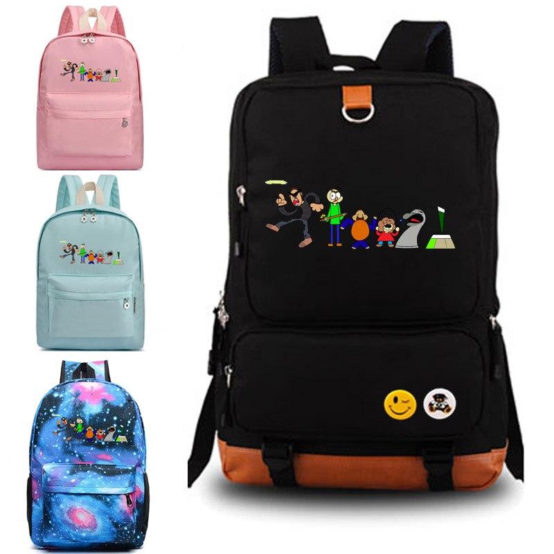 Baldi's Basics School Bag Student Backpack