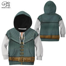 Cosplay flynn 3d printed hoodies kids sweatshirt tracksuit jacket