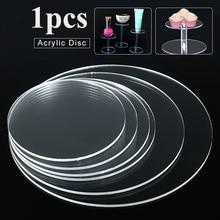Pendientes de círculo acrílico extruido transparente de 3mm z agujeros dyskoteki acrílicos cuentas de plexiglás para marcos de fo