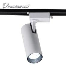 Led Track Light COB Spot Spotlights 20W 30W AC220V LED Rail for Home Supermarket Clothing Stores